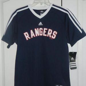Texas Rangers Youth Shirt Boys L 14-16 New NWT